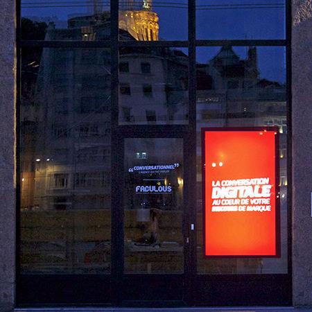 La devanture de l'agence Conversationnel de Lyon