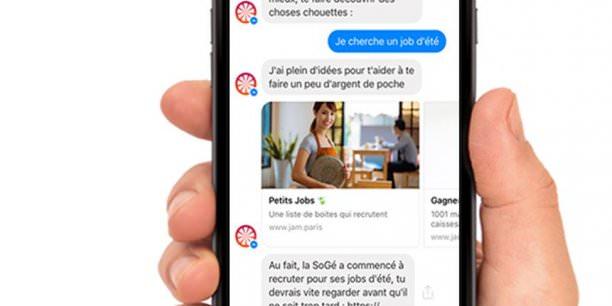 chatbot JAM - societe generale - conversationnel