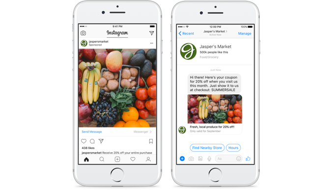 Instagram Clic to Messenger - coups de coeur - conversationnel