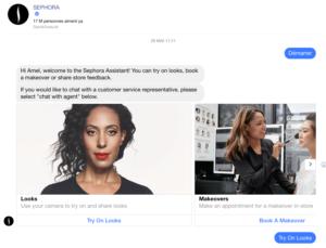 Chatbot Messenger Sephora